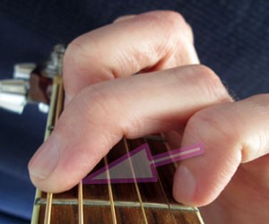 g chord in close up