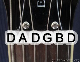 guitar with Double Drop D tuning